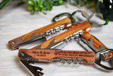 Custom Engraved Corkscrew Wedding Favors