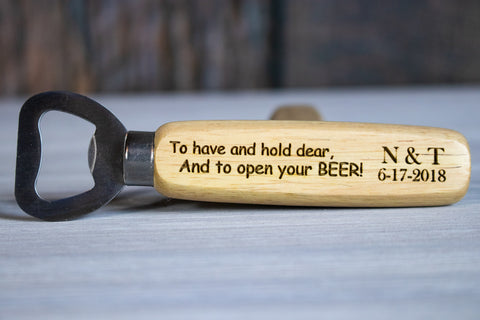Funny Wedding Favors- Custom Bottle Opener Favors