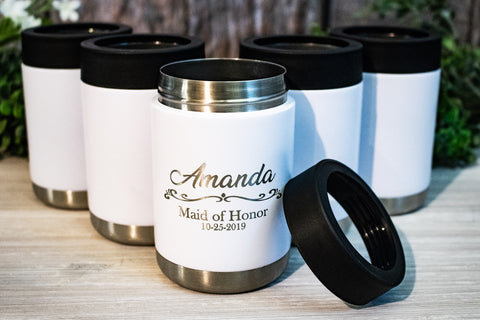 Personalized Bridesmaid / Maid-Of-Honor Stainless Colsters