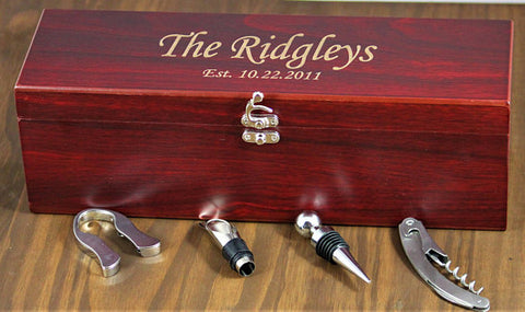 Personalized Wine Box Set