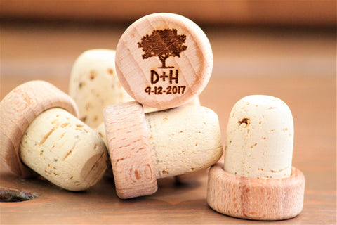 Wedding Favors Wine Stoppers, Personalized Wedding Favors