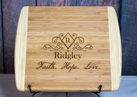 Personalized Cutting Board, Custom Engraved Cutting Board Gift