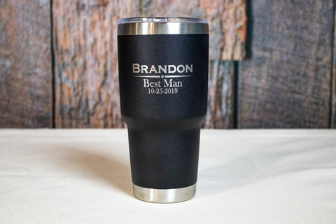 Personalized Stainless Tumbler, Custom Engraved Stainless Tumbler