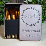 Personalized Makeup Brush Set Bridesmaid Gifts, Maid of Honor Gifts