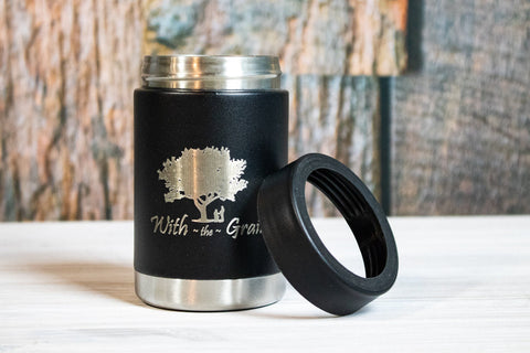 Custom Corporate Gifts- Engraved Logo Stainless Steel Can Coozie / Can Cooler- Employee Christmas Gifts