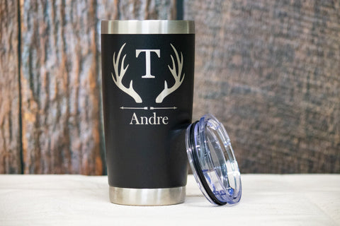 Custom Engraved Stainless Tumbler- 20 oz,  Personalized Stainless Tumbler