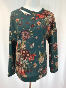Brushed Floral Long Sleeve Top