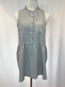 Sleeveless Denim Button Down