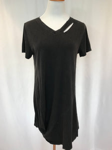 Distressed Side Loop Dress