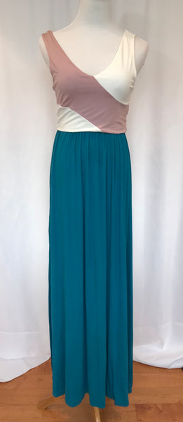 Tank Color Block Maxi Dress