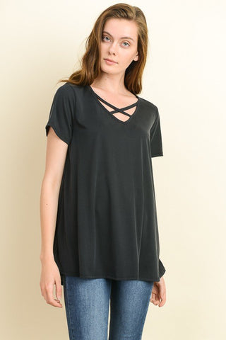 Criss-Cross Boxy Top