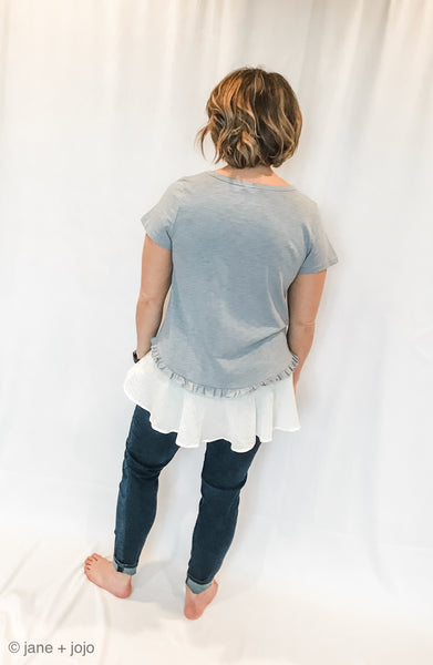 Ruffled Ruby Top