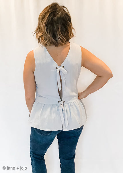 Tie Back Button Down