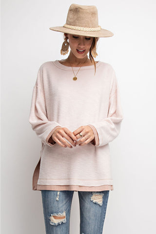 Brushed Knit Boxy Tunic