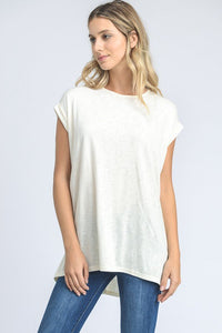 Boxy Folded Sleeve Top