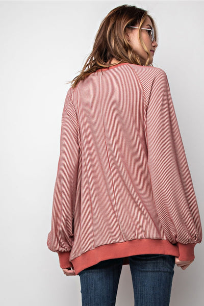 Something Simple Striped Pullover
