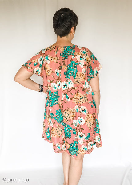 Ruffled Floral Dress