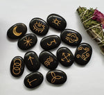 13 Witches Runes Black Agate - IndigoCrystals