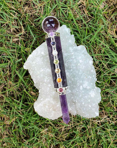 Amethyst Chakra wand (handcrafted in India)