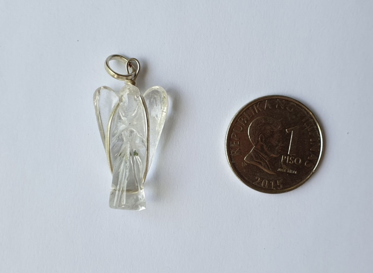 Clear Quartz Angel pendant