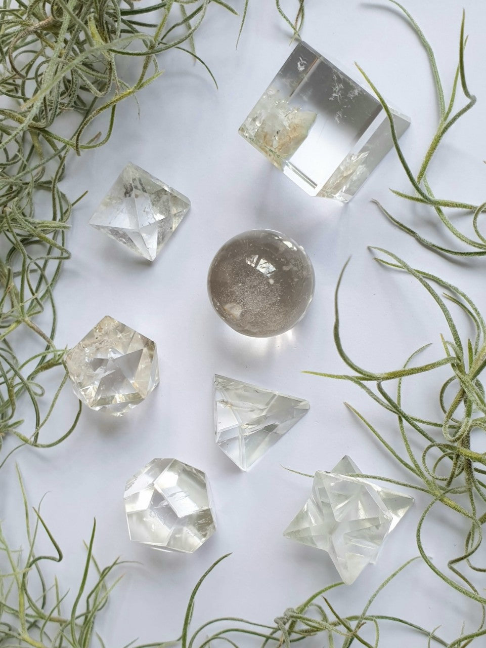 Crystal Quartz Sacred Geometry crystal set