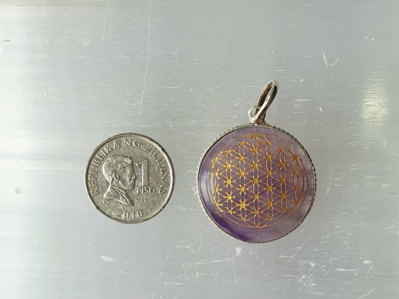 The Flower of Life Amethyst