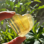 Golden Rainbow Flourite (hand-carved) GFH-05