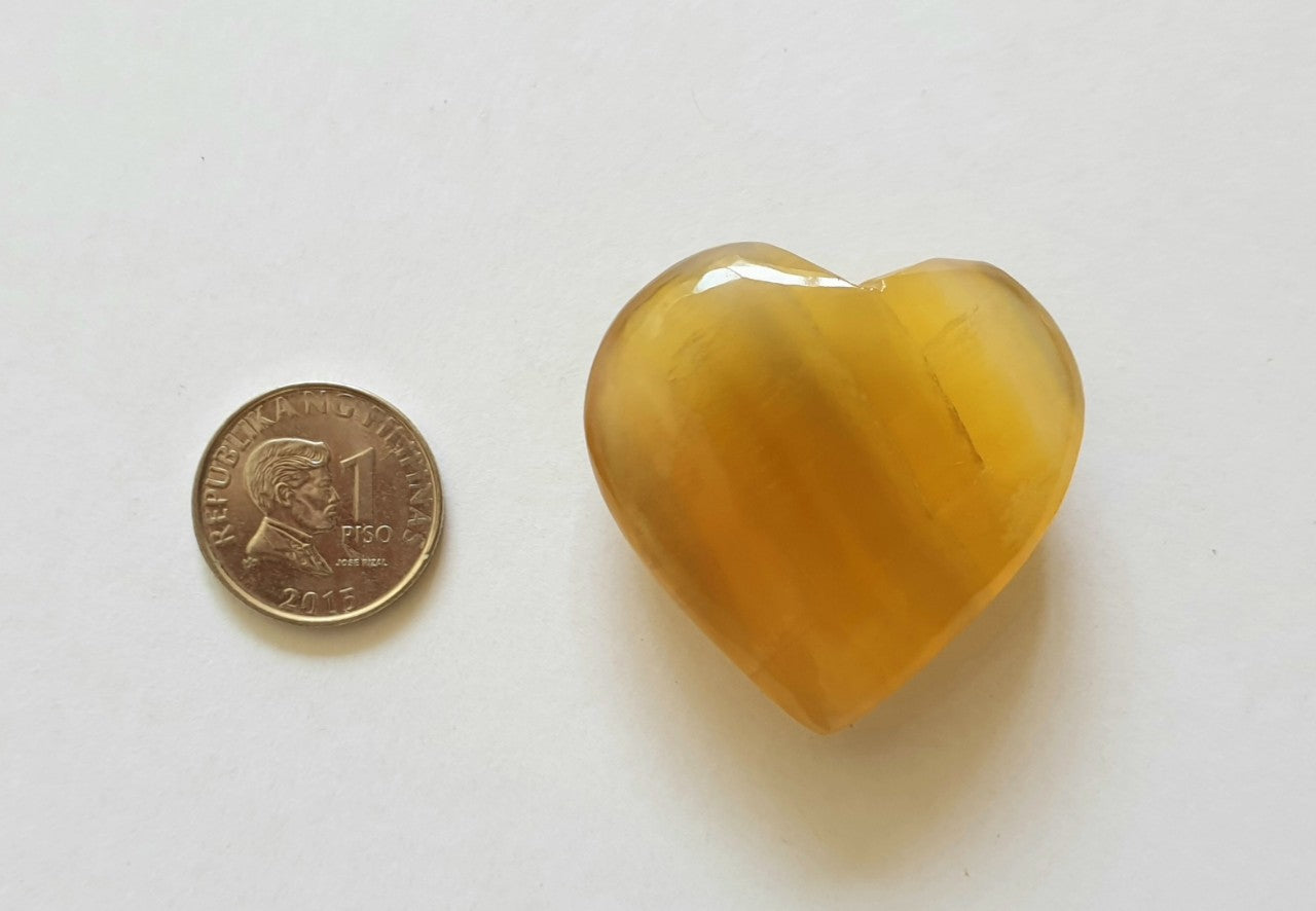 Golden Rainbow Flourite (hand-carved) GFH-07