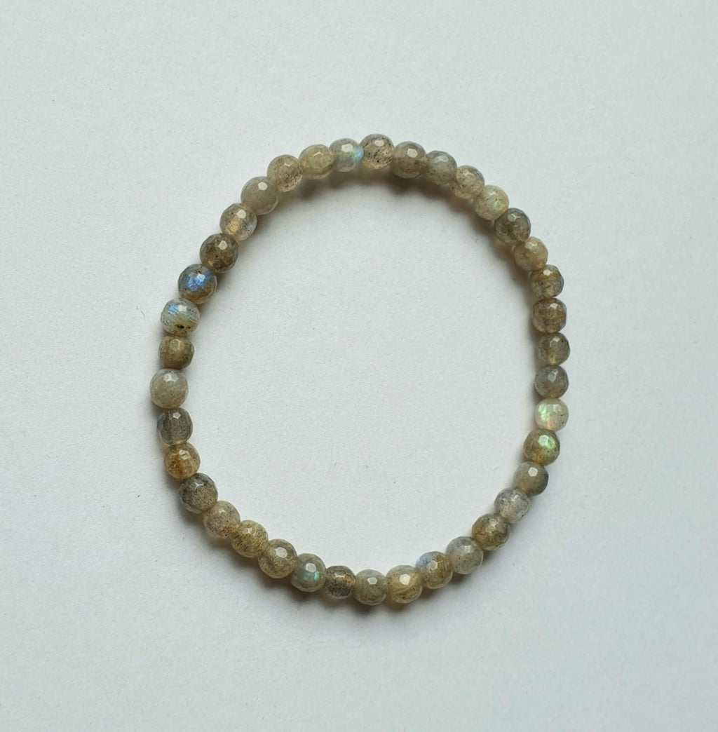 Labradorite faceted (high-quality) bracelet (4mm)