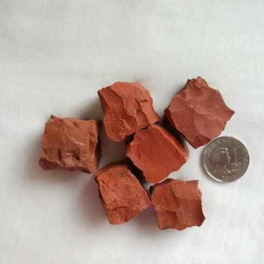 Red Jasper raw cubes - IndigoCrystals