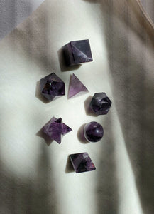 Sacred Geometry crystal set in Amethyst