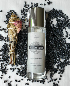 Black Obsidian and Sage Space-cleansing spray - IndigoCrystals