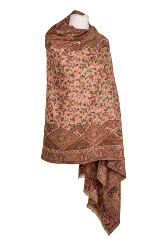 Brown Jamawaar Shawl