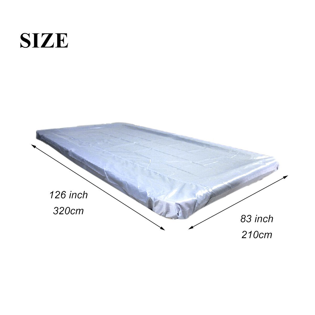 NKTM Billiard Table Cover Pool Table Cover Waterproof PVC Cover For 9 Foot Pool  Table, Silver