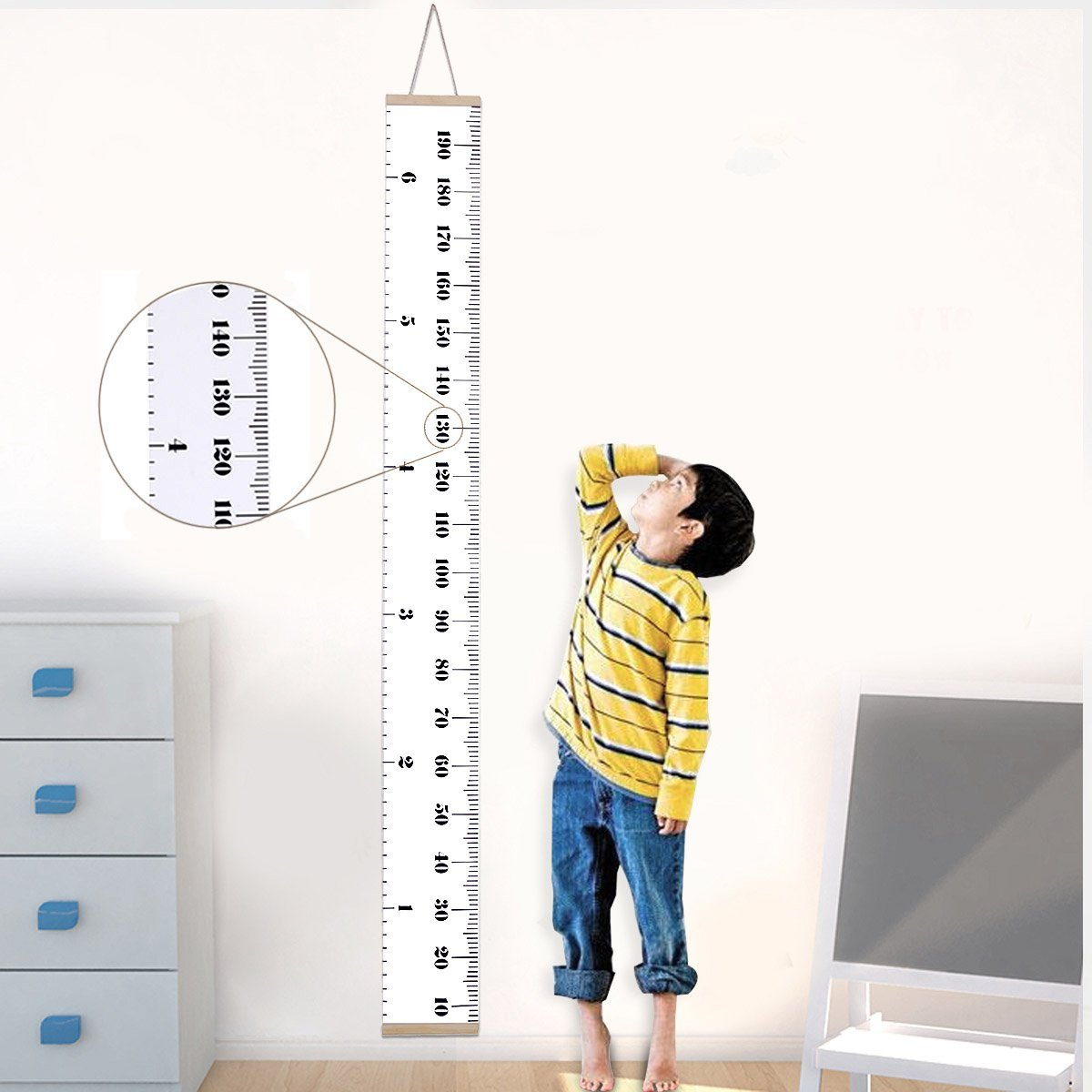 Jeteven Baby Growth Chart For Kids Hanging Wall Growth Chart Ruler
