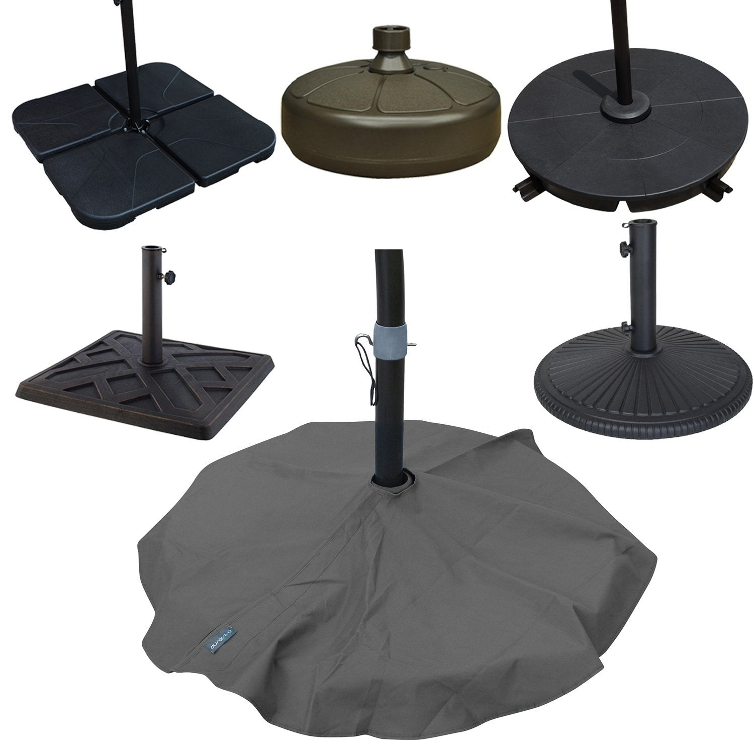 Duraviva Outdoor Patio Umbrella Base Stand Weatherproof Layover Cover u2013 Waterproof Easy-to-Use Velcro Enclosure Design - Fits Bases up to 36u201d in Diameter  sc 1 st  Gazily & Duraviva Outdoor Patio Umbrella Base Stand Weatherproof Layover ...