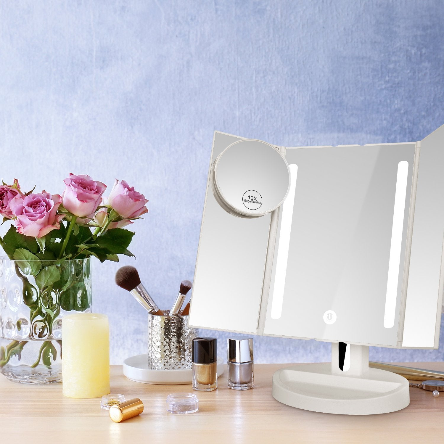 vanity small luxury mirror trends elegant of perfect makeup choice ideas classy lamp lighted including