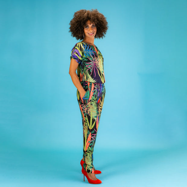 Traffic People The Lion Sleeps Tonight – Immunity Tropical Print Jumpsuit