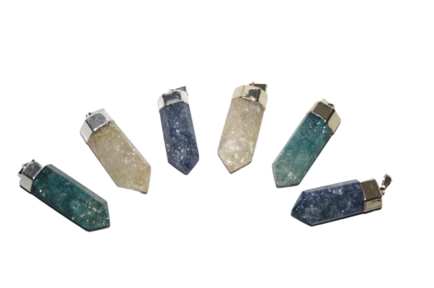 Crackle Quartz Point Pendant