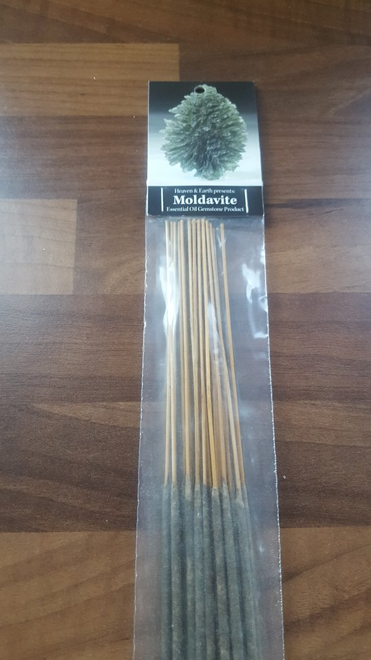 Moldavite Crystal Incense Sticks (Pack of 20)