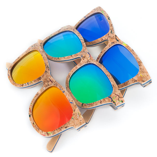 Recycled Skateboard Wood Sunglasses - Limited Edition - We Wood Wear