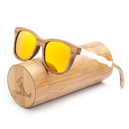 White Temple Wooden Polarized Sunglasses - We Wood Wear