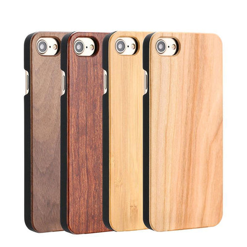 Real Wood & Bamboo Case For iPhone 5/5s, SE, 6/6s/6 Plus, 7/7 Plus, 8 Plus, X - We Wood Wear