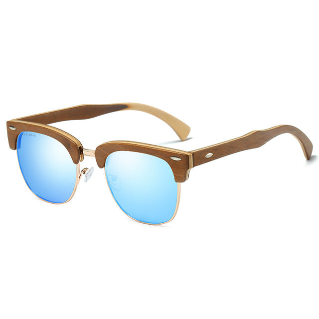 Recycled Skateboard Retro Sunglasses - Brown - We Wood Wear