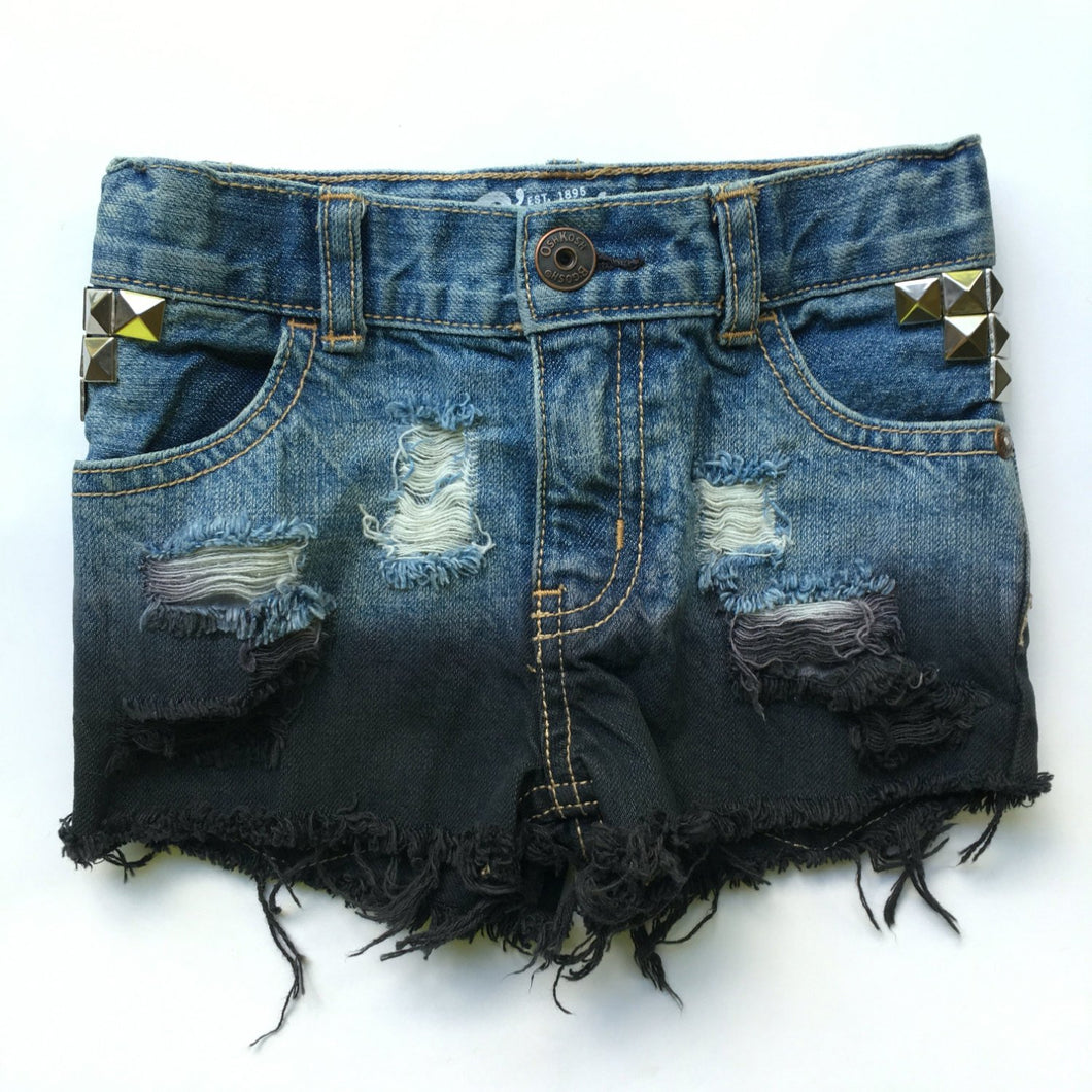 Onyx Dipped Shorties- hand dyed- studded