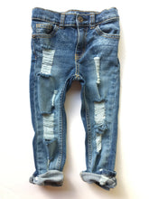 Line em Up Skinnies- distressed denim- unisex- baby- toddler