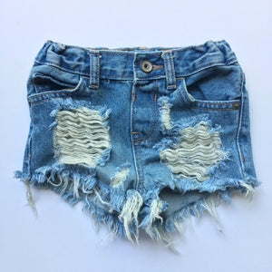 Frazzel Dazzel Shorties- girls shorts- summer shorts- distressed shorts