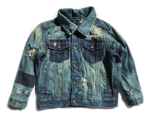 Color block unisex denim jacket- jean jacket- kids clothes- baby denim
