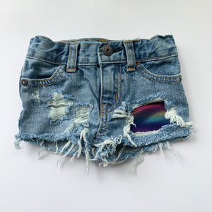Iridescent Rainbow Shorts