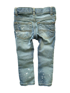White Paint Splattered Skinnies